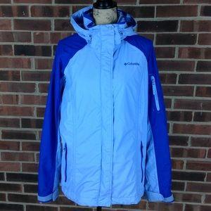 Like new Columbia blue wind breaker jacket